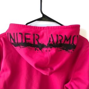 Under Armour Hoodie, Semi-fitted, hot pink